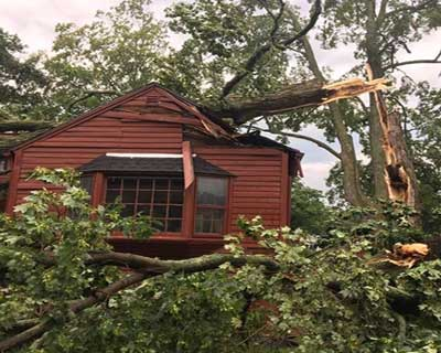 Recent Thompson CT roof damage claim
