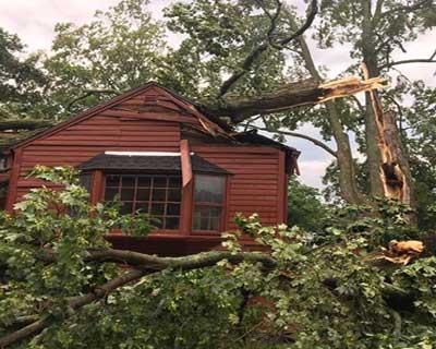 Recent Thompson CT roof damage claim