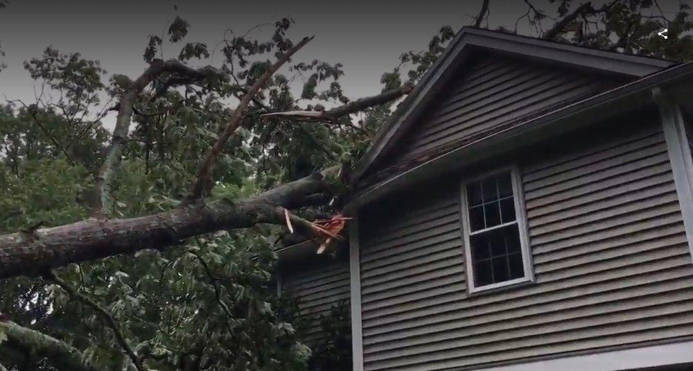 Upton MA tornado damage insurance claims