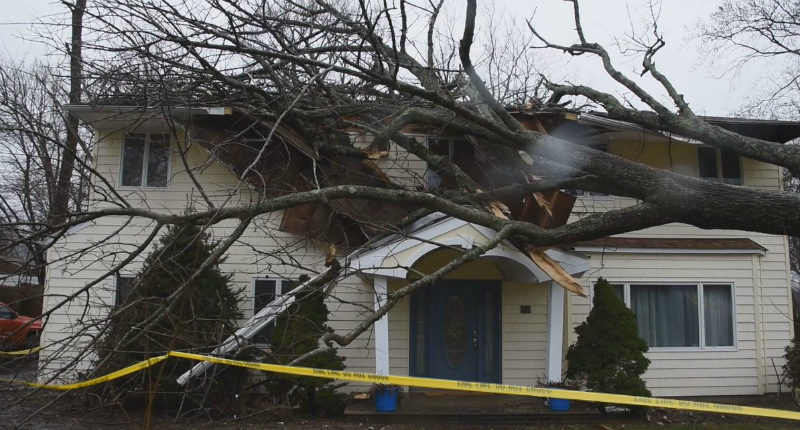 cyclone bomb insurance claim in the winthrop ma area.