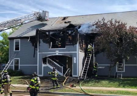 Burlington VT major house fire insurance claim.