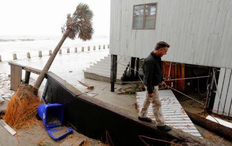 Isle of Palms, SC hurricane wind damage insurance claim.