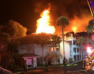 Seabrook Island, SC major house fire insurance claim.