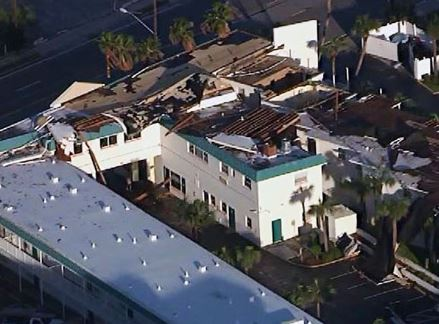 Beaufort, NC area commercial structural & wind damage insurance claim.