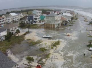 Emerald Isle, NC hurricane flooding insurance claim.