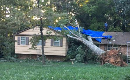 Jacksonville, NC wind and structural damage insurance claim.
