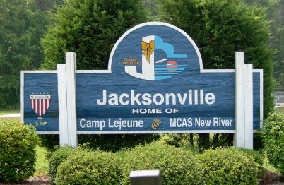 Jacksonville, NC — home of Camp Lejeune.