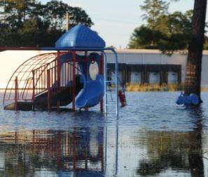 Brunswick, NC hurricane and major flood damage insurance claim.