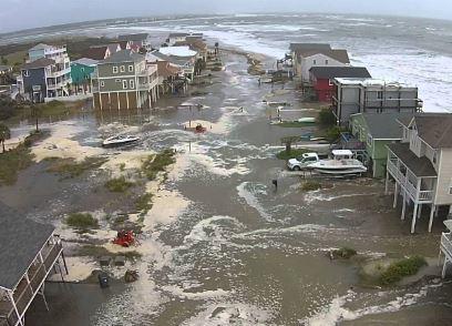 Cape Fear, NC (Bald Head Island) hurricane and major flood damage insurance claim.