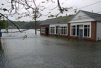 Columbia, NC hurricane and major flood damage insurance claim.