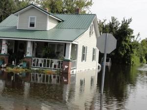 Morehead City, NC hurricane and major flood damage insurance claim.