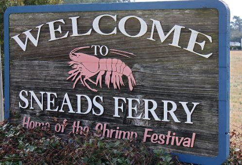 Sneads Ferry, North Carolina — home of the Shrimp Festival.
