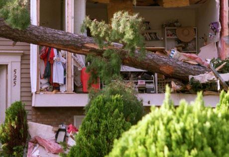 Southport, NC hurricane damage interruption insurance claim.