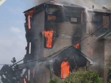 Waves, NC major fire damage insurance claim.