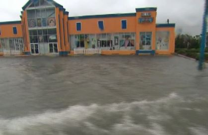 Atlantic Beach, NC business property hurricane flood damage insurance claim.