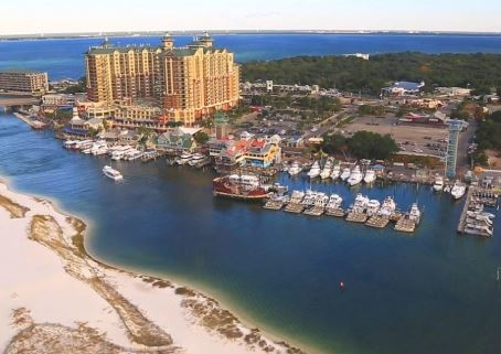 Destin, FL harbor walk area.