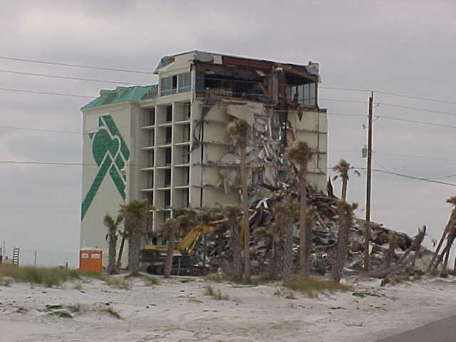Callaway, FL major structural damage condominium / hotel insurance claim.