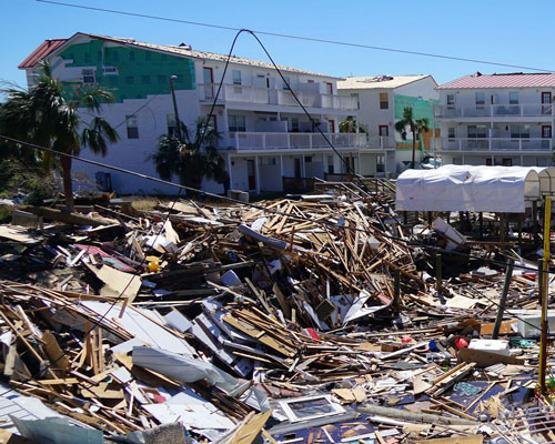 Panama City Beach, FL major condominium apartment wind damage insurance claim.