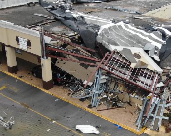 Springfield, FL major hurricane damage business insurance claim.