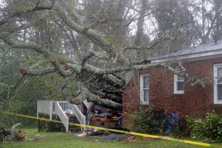 Sneads Ferry, NC hurricane damage insurance claim.