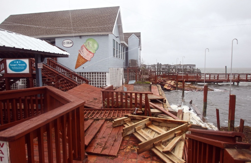 Topsail Beach, NC  commercial property damage  insurance claim.