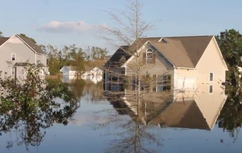 Hampstead, nc major flood home property damage insurance claim.