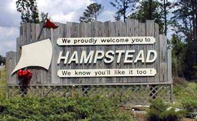 Hampstead, NC welcome sign.