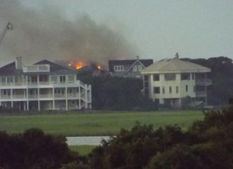 Figure Eight Island, NC major house fire insurance claim.