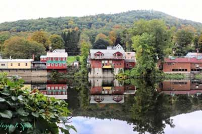 shelburne falls, ma historic mill buildings.