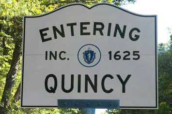 quincy ma town sign