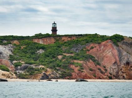 Aquinnah ma gay head lighthouse and beach.