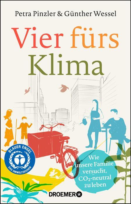 """Das Cover des Buches """"Vier fürs Klima"""""""