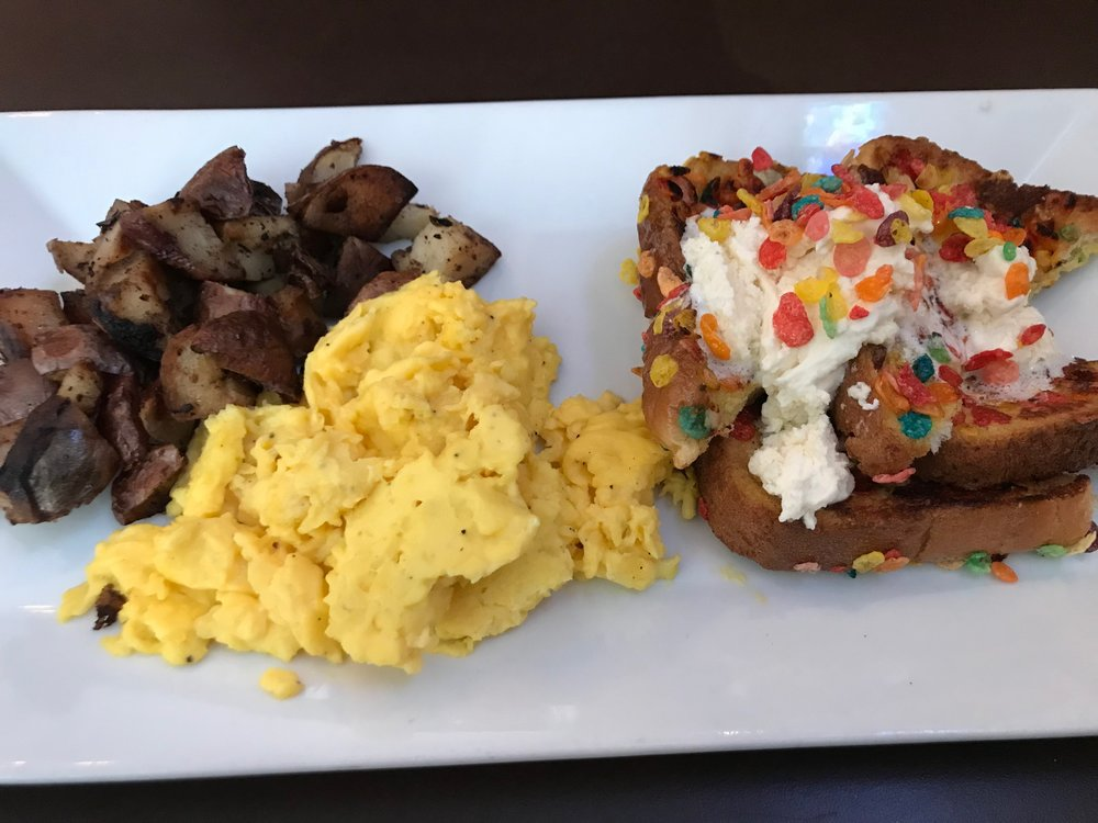 Fruity Pebble French Toast