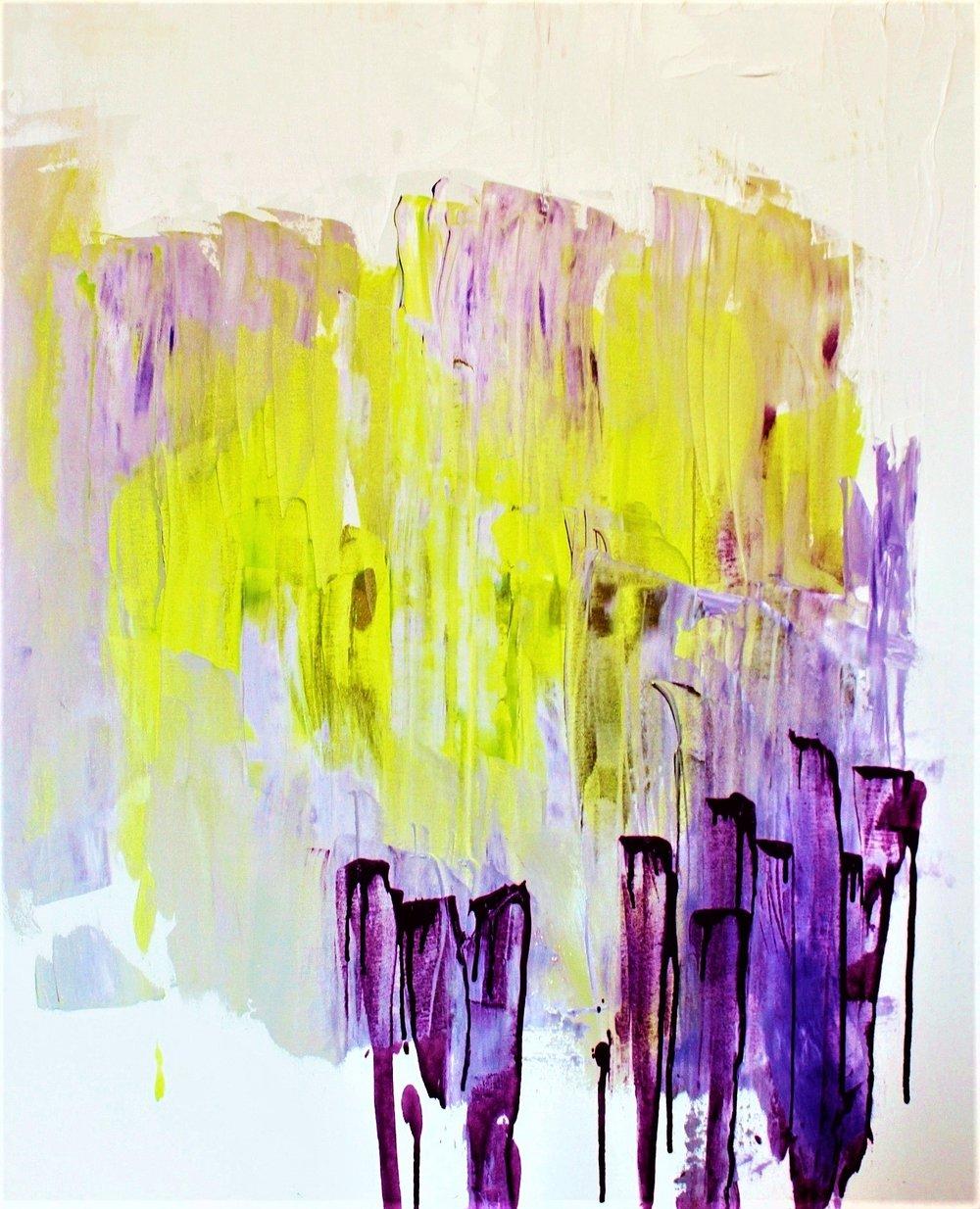 Kirkkaat ajat, Akryyli kankaalle, 81 cm x 100 cm  Myyty / Sold