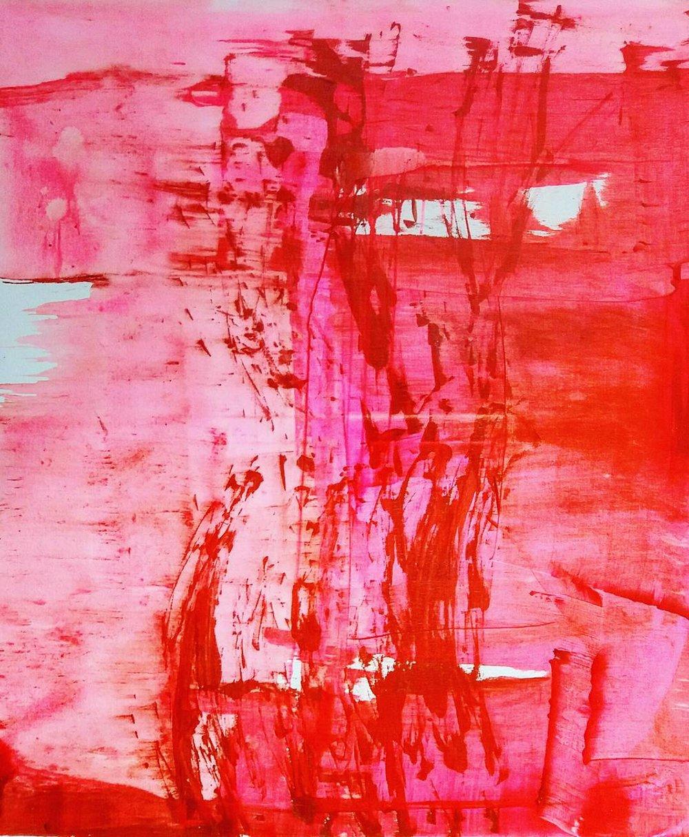 Magentakaislikko, Akryyli kankaalle, 100 cm x 120 cm  Myyty/ Sold