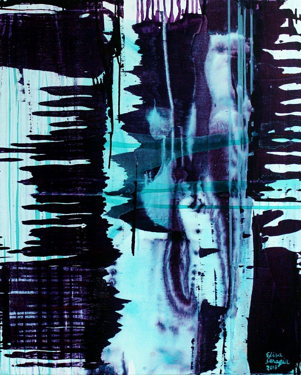 Helmikuu, Akryyli kankaalle, 81 cm x 100 cm  Myyty / Sold