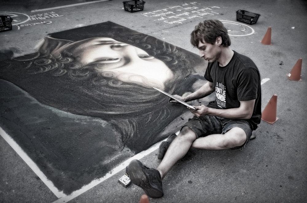 Street Artist, Toronto. Buskerfest 2011.