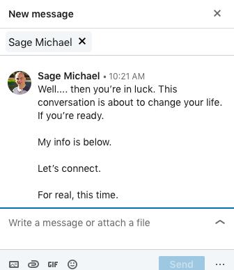 linkedin conversation