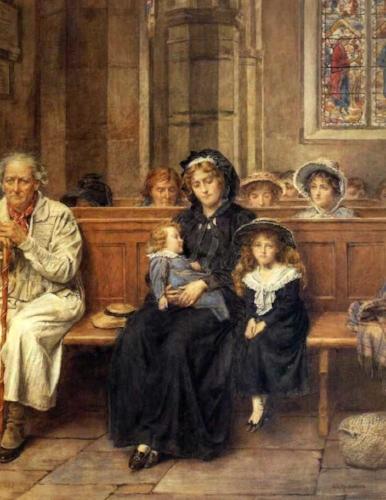 George Goodwin Kilburne, In Church