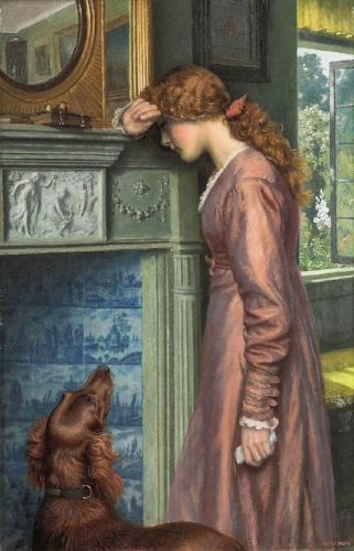 Arthur Hughes, A Passing Cloud
