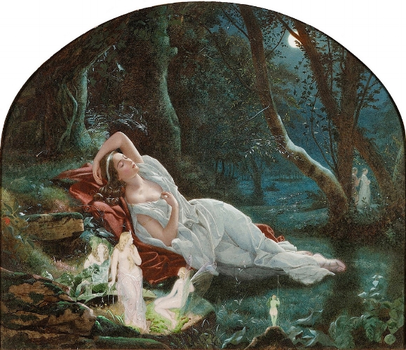 John Simmons, Titania Sleeping in the Moonlight Protected by her Fairies