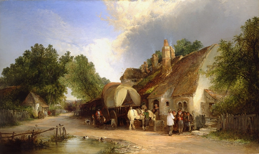William Shayer and Edward Charles Williams, The Old Roadside Inn