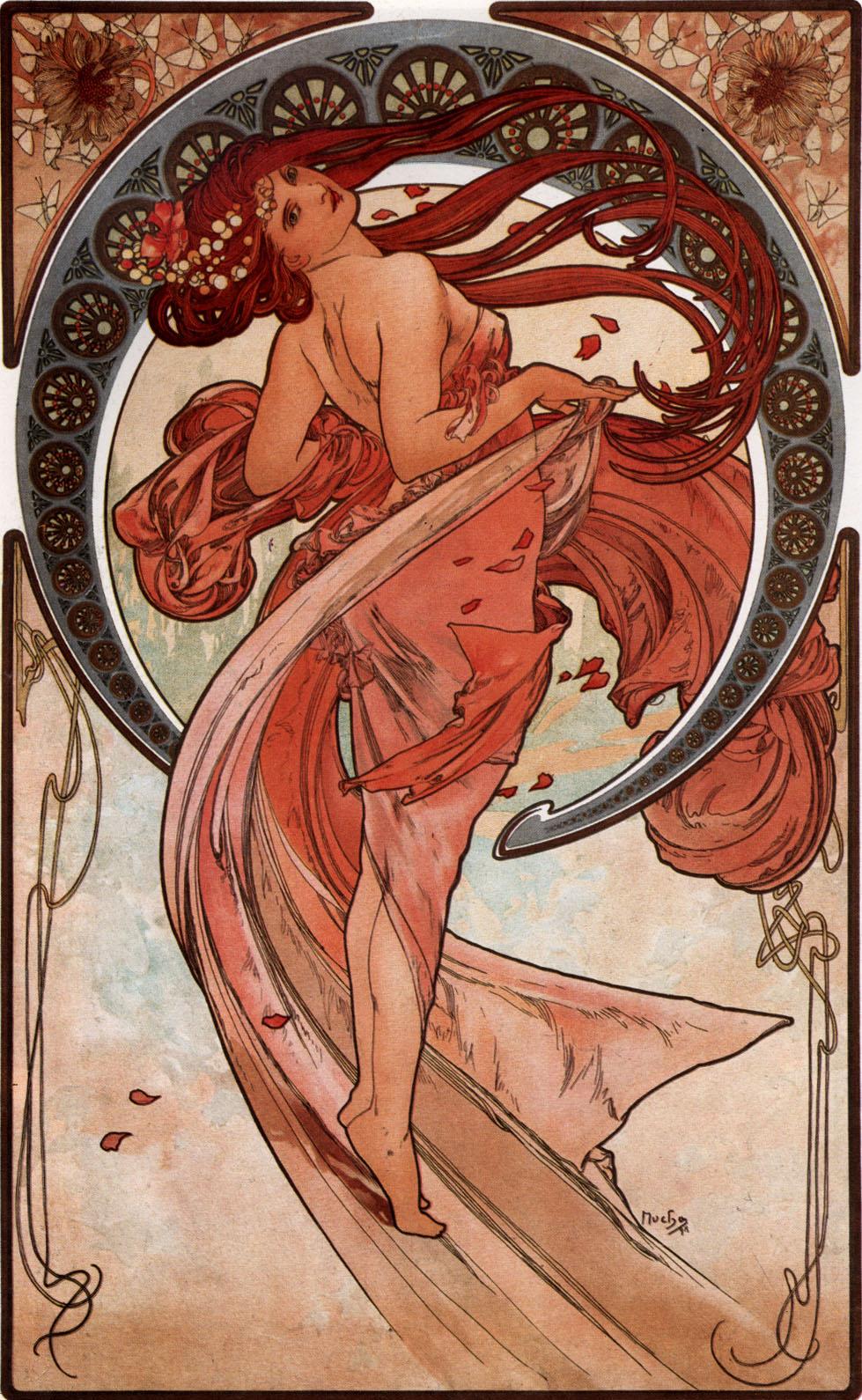 Alfons Mucha, Dance (1898)