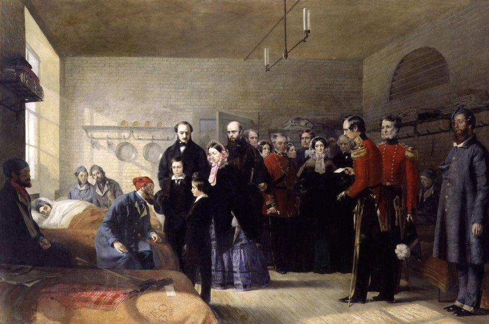 Jerry Barrett, Queen Victoria's First Visit to her Wounded Soldiers