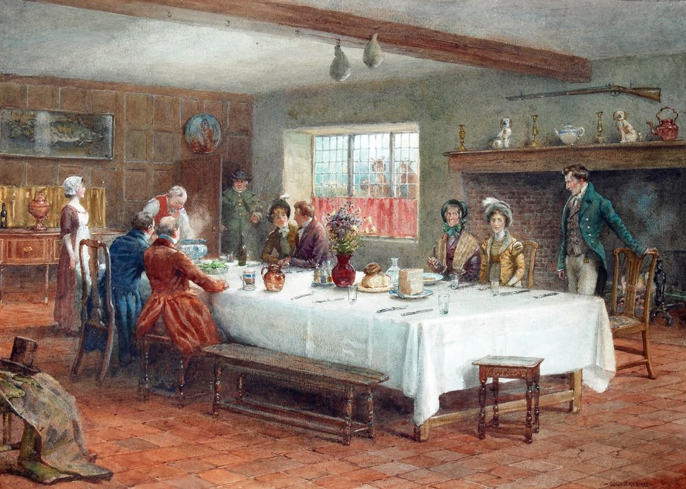 George Goodwin Kilburne, A Meal Stop at a Coaching Inn