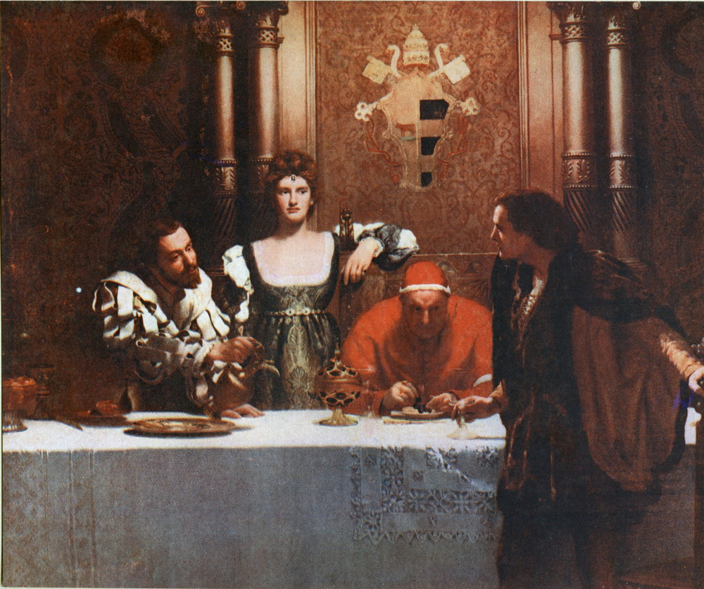 John Collier, A Glass of Wine with Caesar Borgia
