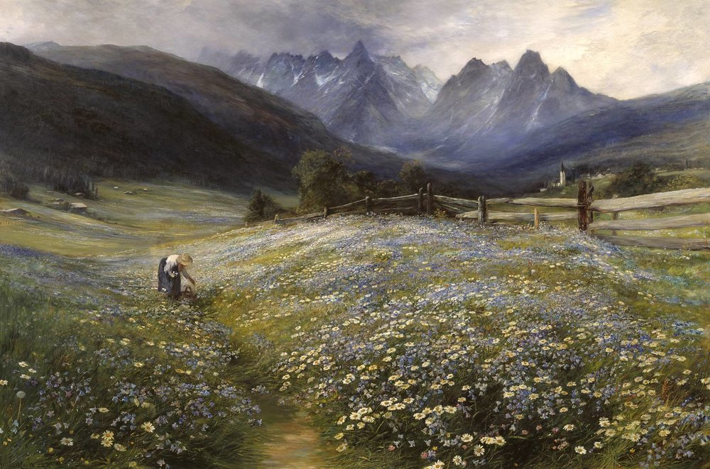John MacWhirter, June in the Austrian Tyrol
