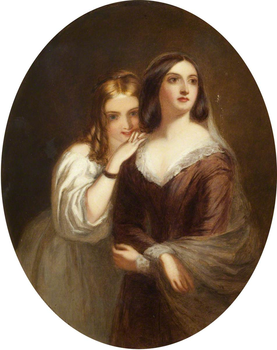 William Powell Frith, Portrait of Two Girls