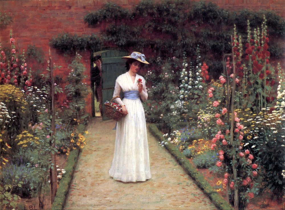 Lord Frederic Leighton, Lady in a Garden