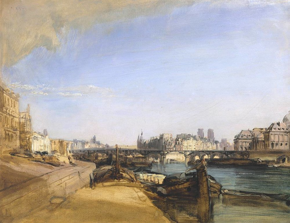 Richard Parkes Bonington, The Pont des Arts, Paris ca. 1826